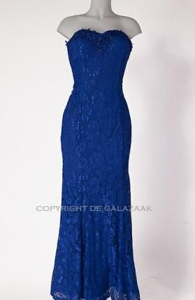 Kobalt kanten jurk 2140