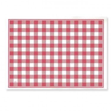 Set De Table En Papier Vichy Carreaux Rouge Et Blanc 30 X 40 Cm