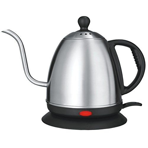 Stainless Steel Electric Kettle 1 L Rust Proof Precise Curved Gooseneck Kettle For Spill Free Heat Fast Lcd Disp Electric Kettle Kettle Gooseneck Kettle