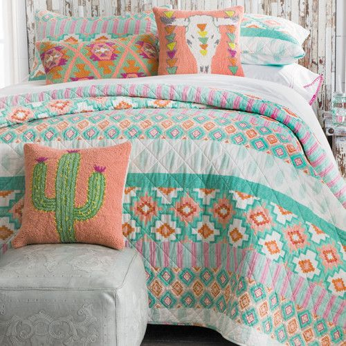 Tucson Cactus Bedding Collection Cowgirl Delight Quilt Bedding Cowgirl Bedroom Cactus Bedroom
