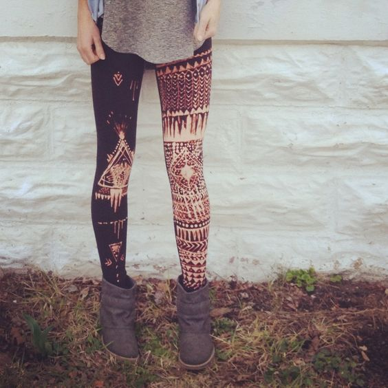DIY Tribal Leggings link to how you can make them