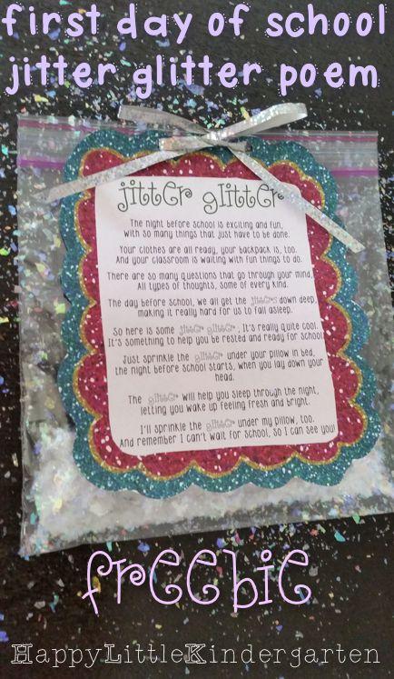 Jitter Glitter: Back to School FREEBIE