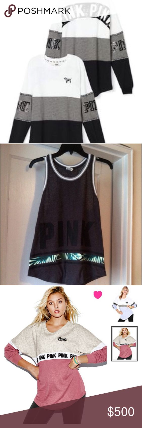 ISO NOT SELLING IN SEARCH OF NOT SELLING I'm looking to trade due to money issues at the moment PINK Victoria's Secret Tops