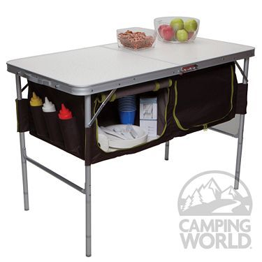 Folding Camp Table with Storage Bins - Westfield Outdoor Inc TA-519 - Folding Tables - Camping World