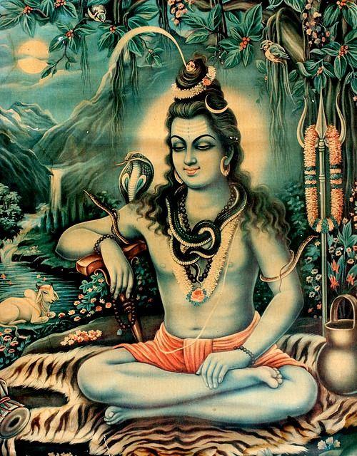 Calendar Art Of Hindu Gods : Shiva old calendar art pinterest hindus
