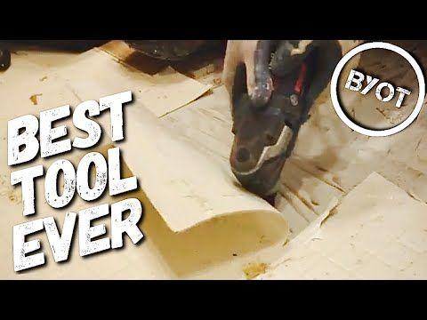 Diy How To Remove Vinyl Flooring Bosch Multi Tool Youtube In 2020 Vinyl Flooring Multitool Diy