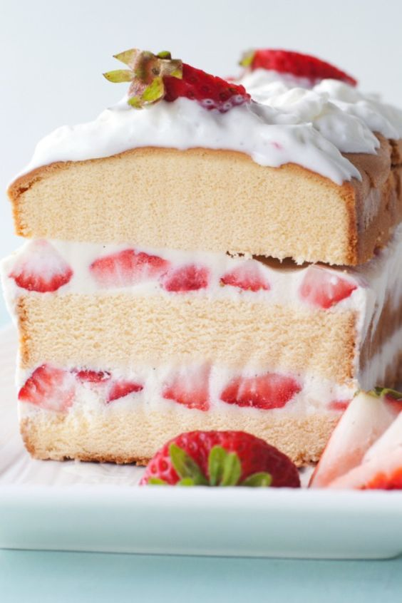 Super easy layered strawberry shortcake ice cream cake for summer entertaining!