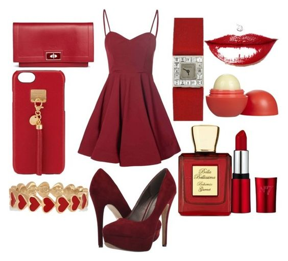 """red elegant ¤"" by gatalina3107 ❤ liked on Polyvore featuring Michael Antonio, Glamorous, Givenchy, Henri Bendel, Alison Lou, Tiffany & Co., Eos and Bella Bellissima"