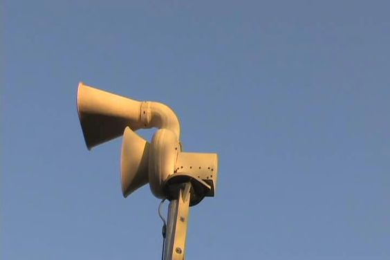 Nuclear civil defence siren. In our school playground. Nice! No paranoia here…