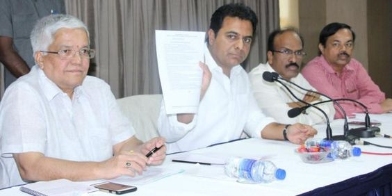 100 DAYS ACTION PLAN BY GREATER HYDERABAD MUNICIPAL CORPORATION. Plan Details are briefed by Muncipal Administration Minister K Taraka Rama Rao along with