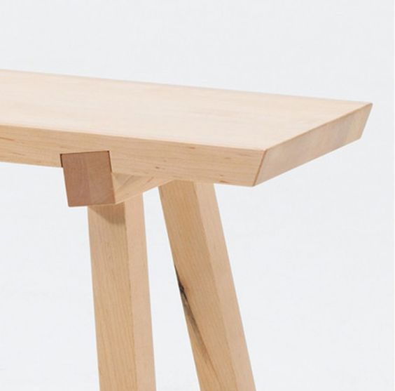 Trestle table trestle to top joint furniture for Table joints
