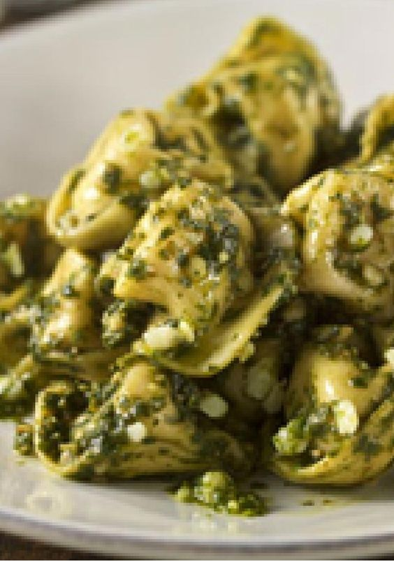 Parmesan-Pesto Tortellini – Ready-made pasta makes this cheesy tortellini a 20-minute recipe. Add fresh basil, Parmesan cheese, garlic and olive oil and it's ready to serve.