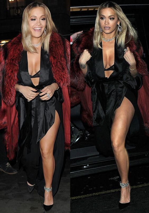Rita Ora arrives at Tenezis Oxford Circus for her in-store live performance to launch her Tezenis Italian lingerie capsule collection in London on December 13, 2016