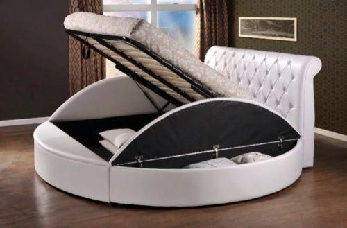 Exclusive Sliegh Gaslift Twist Round Bed 900 For Bed Delivered Available In 6ft 7ft 8ft 9ft Mattress
