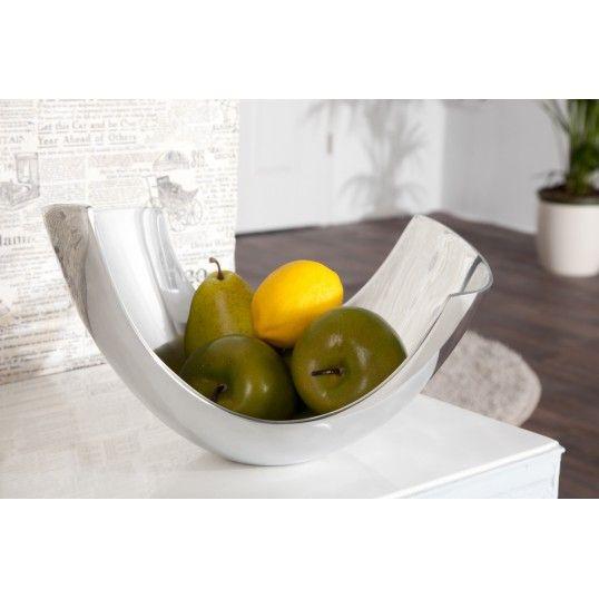 Looks like the white bjt off the shoe. Abstract design fruit bowl 30cm aluminium basket