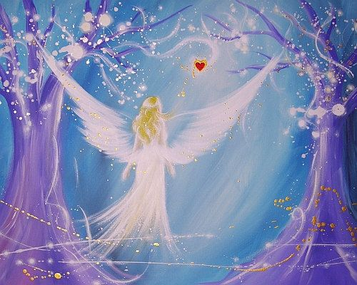 Foto de arte de angel limitada en su corazón