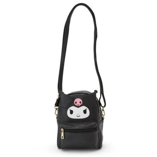 New Sanrio Kuromi mini fur Backpack Black My Melody From Japan F//S