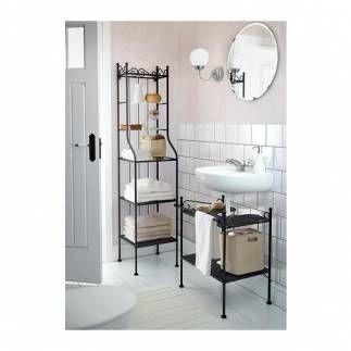 Se vende estanter a para lavabo color negro ikea segunda for Lavabos segunda mano
