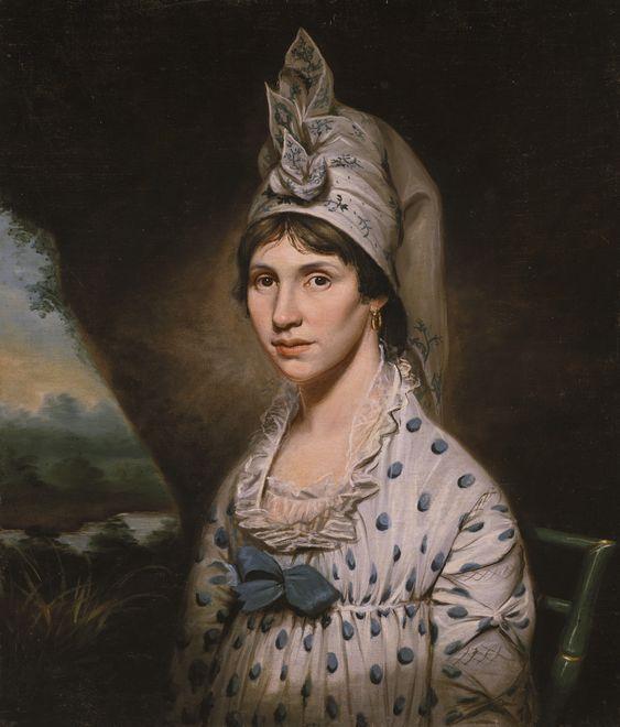 Raphaelle Peale, Lydia Hartford Wallace Berrett, ca. 1800 - #dog