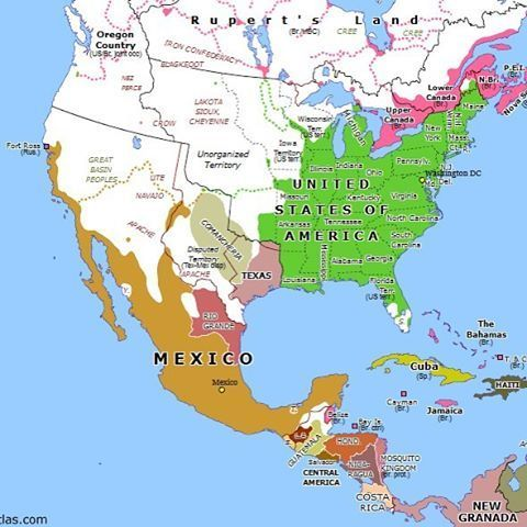 Omniatlas North America 177 Years Ago Today Centralist