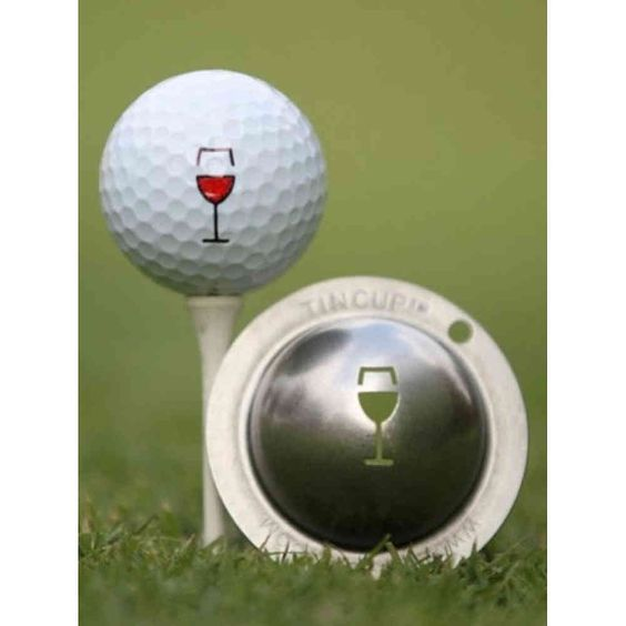 Tin Cup Ballmarker 'Weinglas' #golfballmarker #bruttopunkt #golfshop