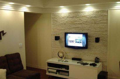 parede com textura sala de tv