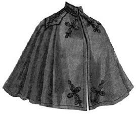 AG1252 - 1896 Cloth Cape with Braiding Sewing Pattern by Ageless Patterns