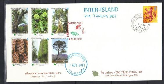 2001 TREES FIRST DAY COVER