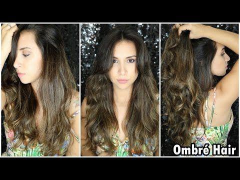 Pleasant Ombre Hair Para Cabelos Escuros Morena Youtube Clebia Hairstyles For Women Draintrainus