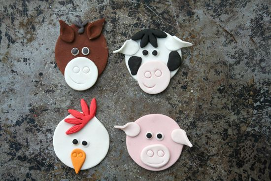 How To Create Farm Animal Cupcake Toppers   Mum's Business