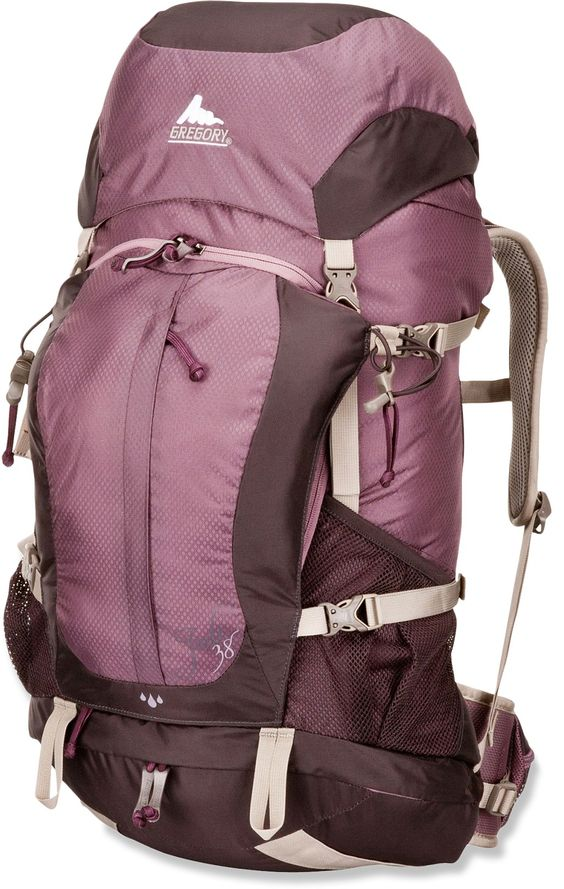 Gregory Women's Jade 38 Pack - Good size for a weekend trip, or longer if you're packing light.  Top and side loading plus straps are cut for a woman.  #backpack #backpacking #hiking