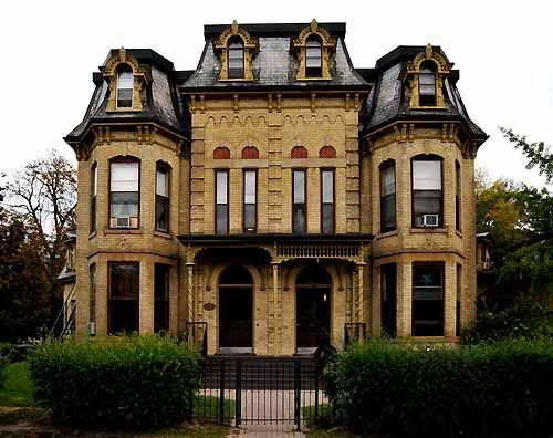 Victorian Second Empire Www Ontarioarchitecture Com Common Features Mansard Roof With Dormer Windows One Or T Victorian Homes Mansard Roof Roof Architecture