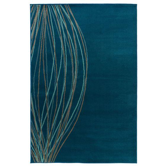 MALIN BLAD  Rug, low pile, turquoise  $29.99
