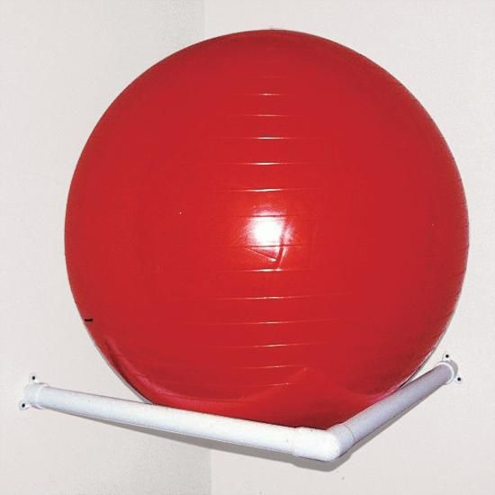 Pop In Corner Up Higher Behind One Of The Doors To Get The Exercise Ball Off The Floor Out Of Sight In 2020 Therapy Ball Ball Storage Ball Exercises
