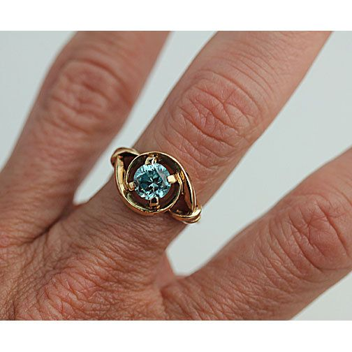 Vintage Antique Engagement Ring Blue Zircon Engagement Ring Etsy Antique Engagement Rings Vintage Antique Engagement Rings Blue Engagement Ring
