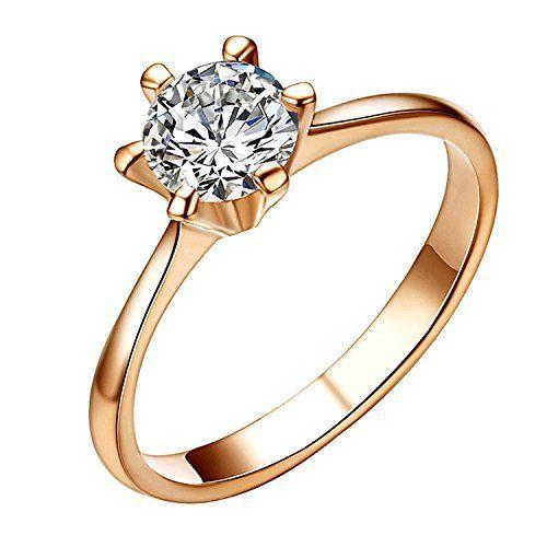 Mode Plaqué Argent lady blue mariage zircon cristal massif femmes bague bijoux