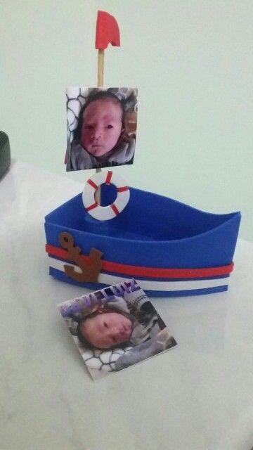 Lembrança de maternidade marinheiro  Por Patrícia Souza
