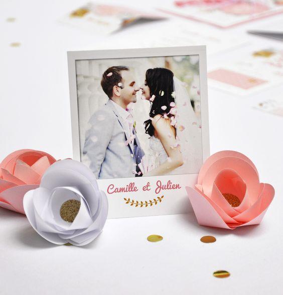 carte de remerciement mariage fleurs champ tre mariage roses and originals. Black Bedroom Furniture Sets. Home Design Ideas
