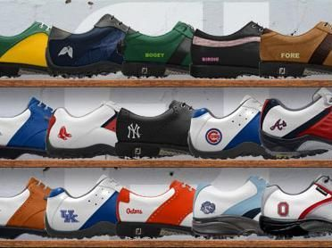 Personalized Golf Shoes - Customize a pair of FootJoy MyJoys with a name, monogram, or NCAA or MLB team logo.