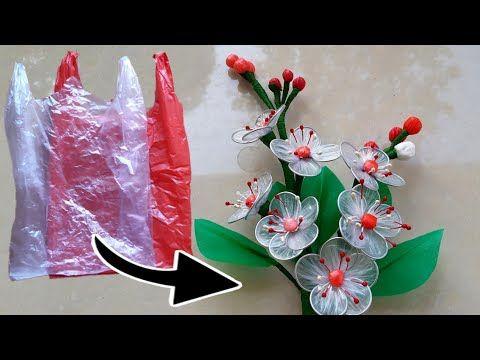 Seni Bunga Dari Plastik Kresek Bening Bekas Dari Pasar Hehehe