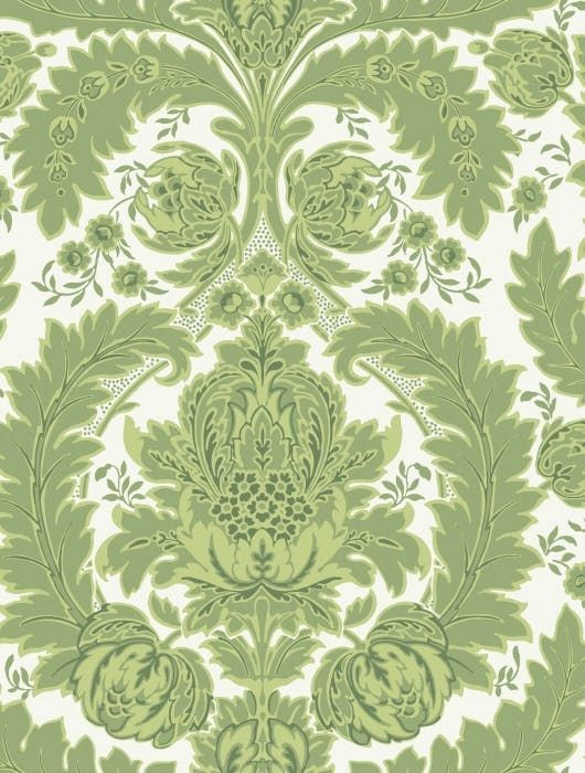 Pin On Project Navy Setee Bedroom Green and white wallpaper for walls
