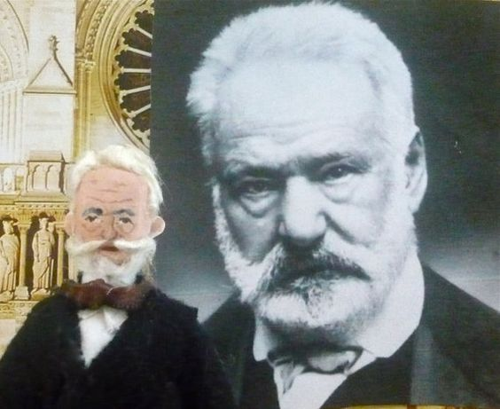 Victor Hugo Author Doll Miniature Art Collectible Literary Classic via Etsy