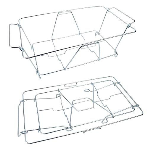 Kalrede Chafer Stand Folding Chafing, Disposable Buffet Warmers