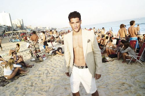 men's summer fashion style tips; Boho chic street and beach wear