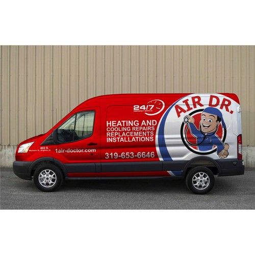 Create A Hot And Cool Design For A Heating And Cooling Company