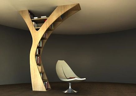 Interesting Bookshelf concept - I can't help but imagine a whole library full of these would be truly magical!