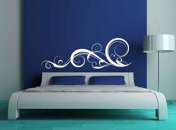 Baroque Swirl Flourish, Decorative - Vinyl Decal, Vinyl Sticker, Wall Decal, Wall Sticker, Home, Bedroom, Dorm Decor. $55.00, via Etsy.