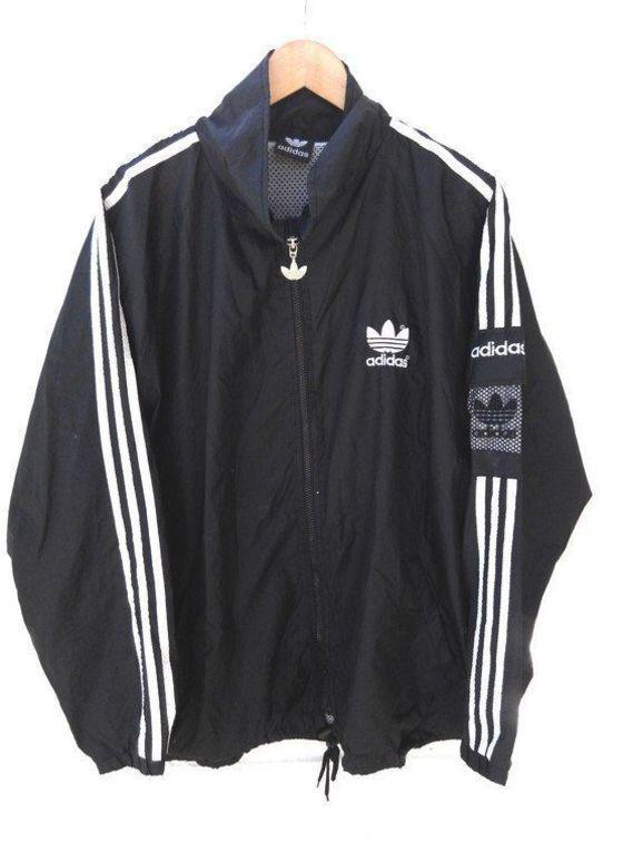 Vintage adidas '90s Black + White Track Jacket