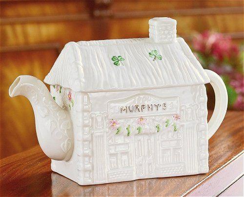 Belleek Fine Parian China Murphys Pub Teapot