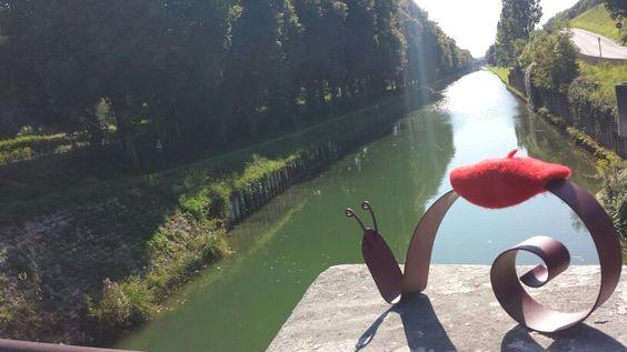 Gaston le long du canal de Bourgogne, Plombières lès Dijon